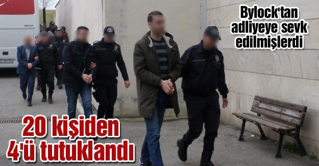 20 kişiden 4'ü tutuklandı