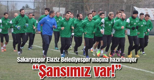 Sakaryaspor Elaziz Belediyespor maçına hazırlanıyor