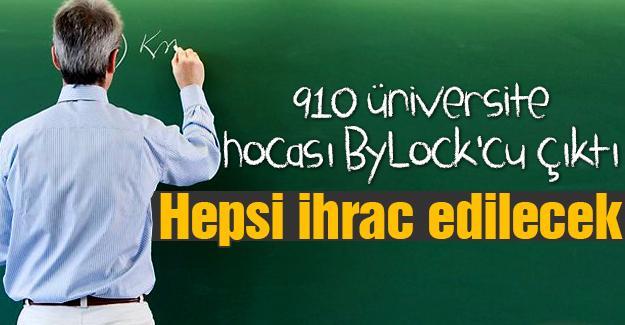 910 üniversite hocası ByLock'cu çıktı