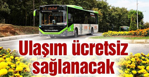 Adaray ve belediye otobüsleri ücretsiz