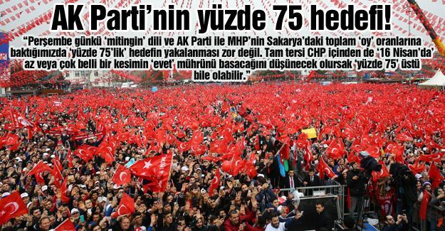 AK Parti'nin yüzde 75 hedefi!…