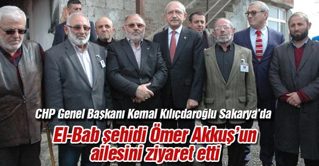 CHP Genel Başkanı Kemal Kılıçdaroğlu Sakarya'da