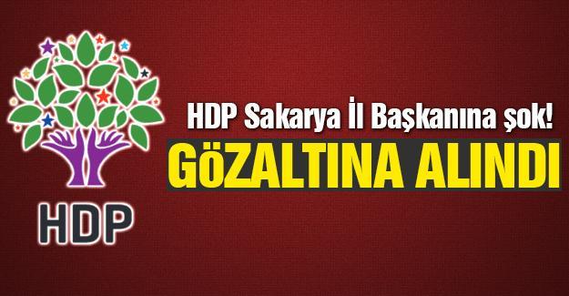 HDP İl Başkanına şok!