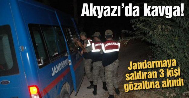 Jandarmaya saldıran 3 kişi gözaltına alındı