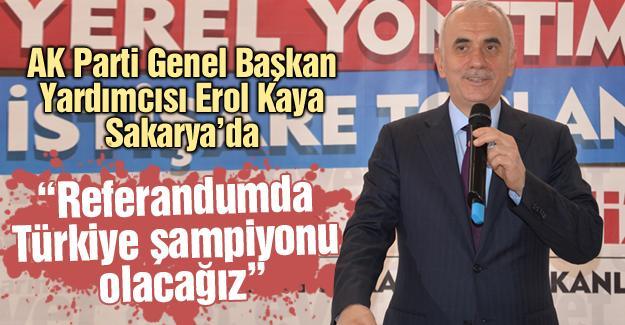 """""""Referandumda Türkiye şampiyonu olacağız"""""""