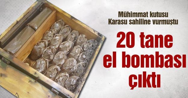 20 el bombası çıktı