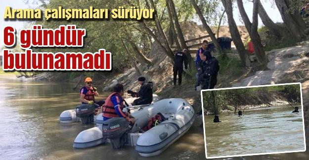 Nehirde kaybolan genç 6 gündür bulunamadı