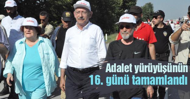 Adalet yürüyüşünün 16. günü tamamlandı