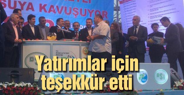 Başkan Keser'den Bakan Eroğlu'na teşekkür