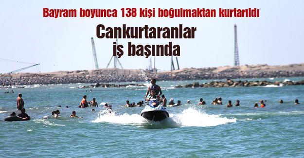 Bayram boyunca 138 kişi boğulmaktan kurtarıldı