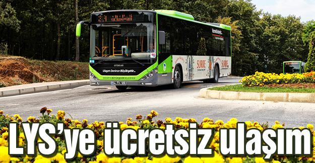Belediye otobüsleri ve ADARAY ücretsiz