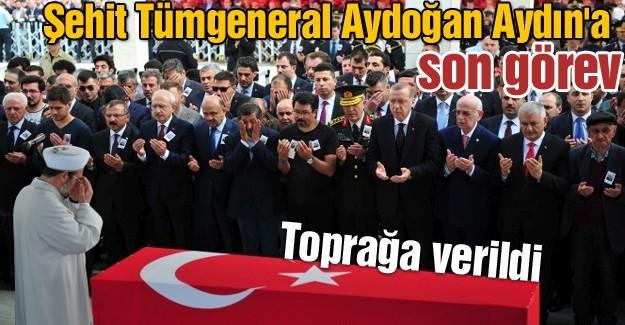 Şehit Tümgeneral Aydoğan Aydınl'a son görev