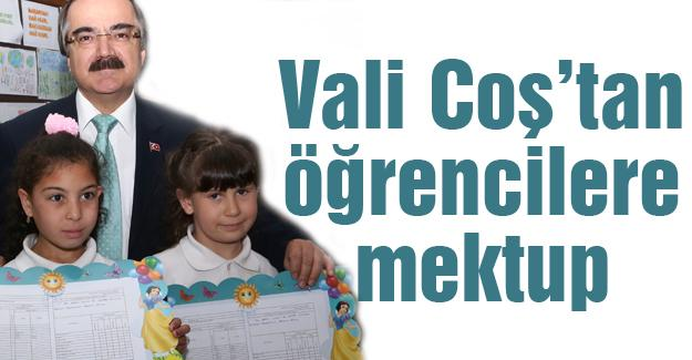 Vali Coş'un mektubu karnelerle birlikte dağıtılacak