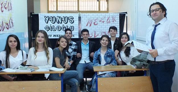 Yunus Çiloğlu'nda mezuniyet sevinci