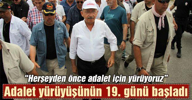 Adalet yürüyüşünün 19. günü başladı