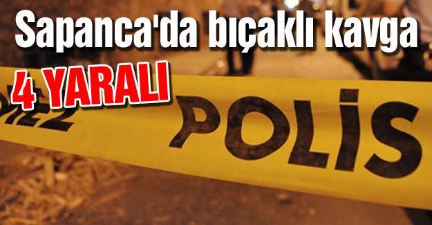 Sapanca'da bıçaklı kavga! 4 yaralı