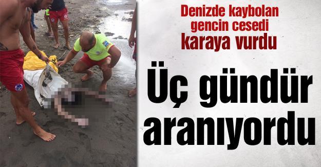 Denizde kaybolan gencin cesedi karaya vurdu