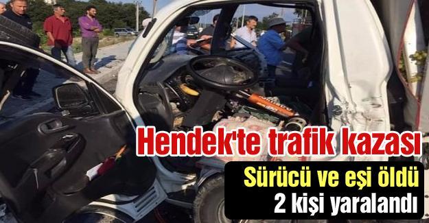 Sürücü ve eşi öldü! 2 kişi yaralandı