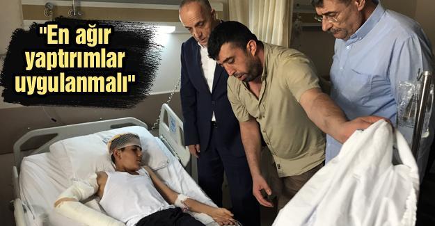 TÜRK-İŞ Genel Başkanı Atalay yaralı işçileri ziyaret etti