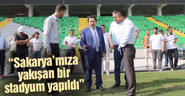 Vali Balkanlıoğlu yeni stadı inceledi