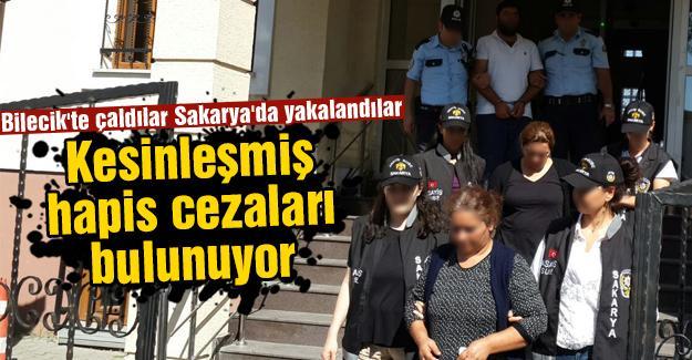 Bilecik'te çaldılar Sakarya'da yakalandılar