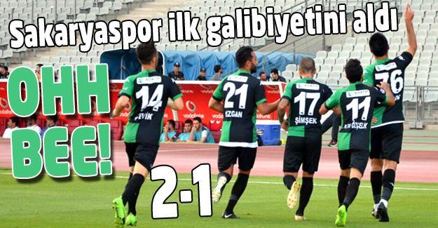Sakaryaspor'dan ilk galibiyet! 2-1
