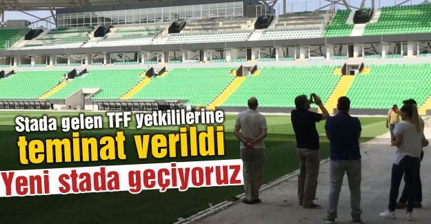 Stada gelen TFF yetkililerine teminat verildi