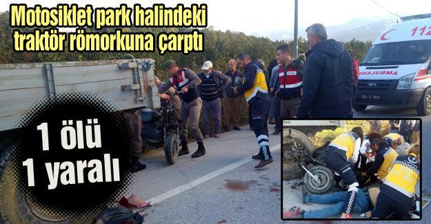 Akyazı'da kaza: 1 ölü 1 yaralı