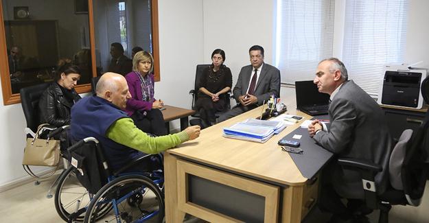 Dünya Engelliler Vakfı'ndan Yılmazer'e ziyaret