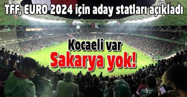 Sakarya EURO 2024'te yok!