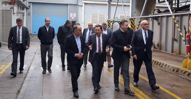 Balkanlıoğlu Ordulu iş adamlarıyla OSB'yi gezdi