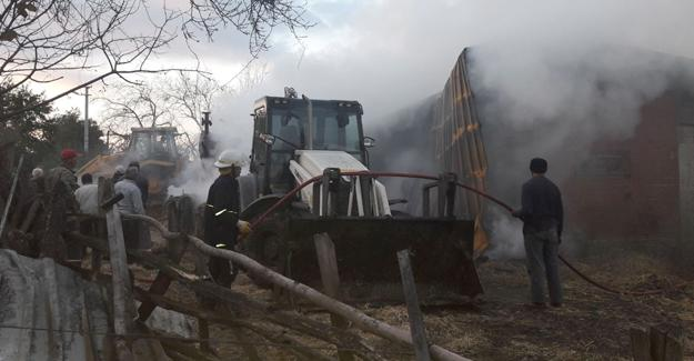 Bin 500 saman balyası yandı