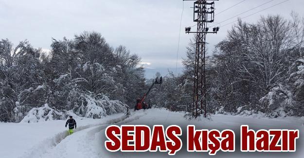 Kesintisiz enerji için kar mesaisi başladı