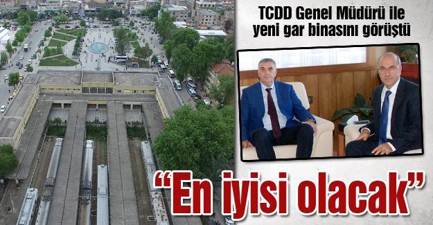 TCDD Genel Müdürü ile yeni gar binasını görüştü