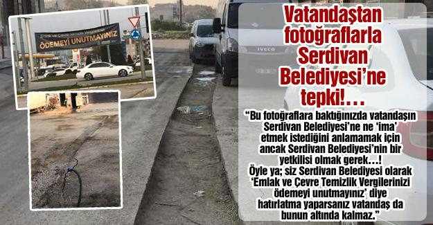 Vatandaştan fotoğraflarla Serdivan Belediyesi'ne tepki!…