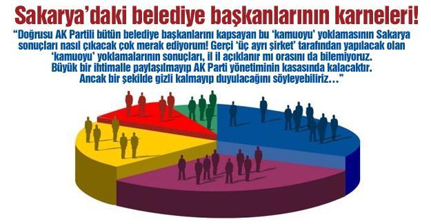 Sakarya'daki belediye başkanlarının karneleri!…
