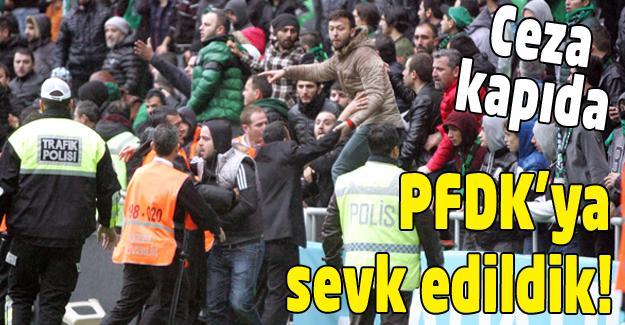 Sakaryaspor PFDK'ya sevk edildi