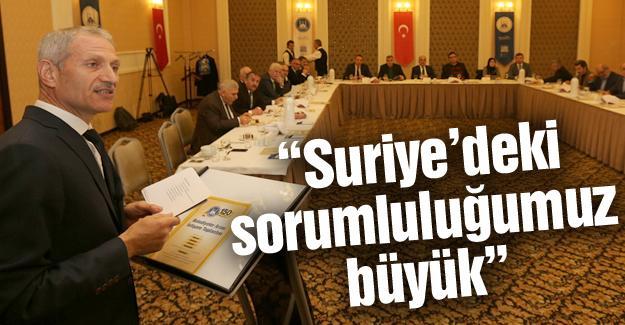 AK Partili başkanlar değerlendirme yaptı