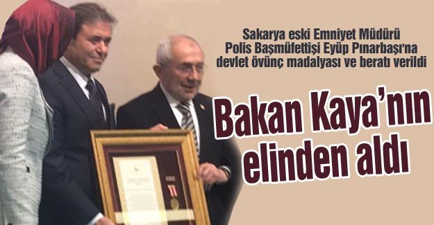 Pınarbaşı'na devlet övünç madalyası ve beratı verildi