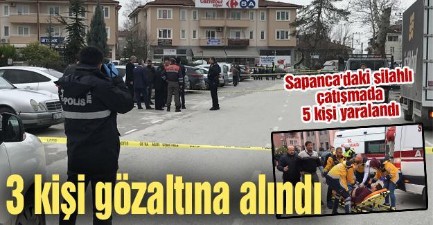 Sapanca'daki silahlı çatışmada 5 kişi yaralandı