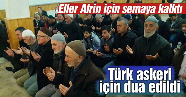 Türk askeri için dua edildi