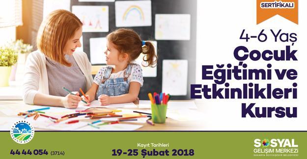 4-6 Yaş Çocuk Eğitimi Kursu için kayıtlar başladı
