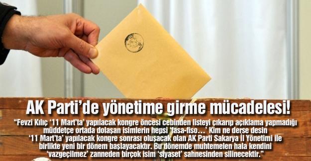 AK Parti'de yönetime girme mücadelesi!…