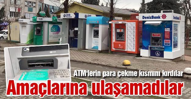 ATM'lerin para çekme kısmını kırdılar