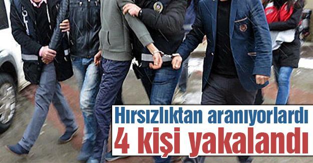 Hırsızlık zanlısı 4 kişiye gözaltı