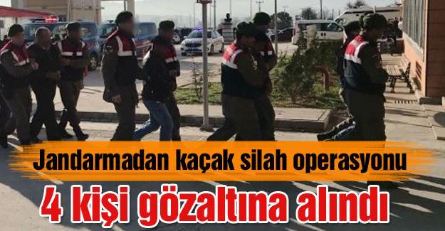 Jandarmadan kaçak silah operasyonu