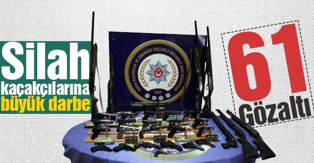 Silah kaçakçılarına büyük darbe