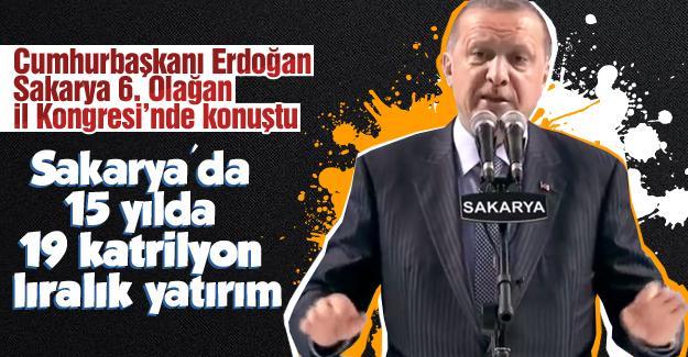 Cumhurbaşkanı Erdoğan İl Kongresi'nde konuştu