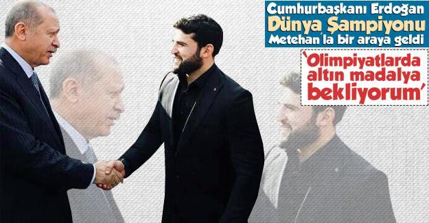 Cumhurbaşkanı Erdoğan Metehan Başar'la buluştu