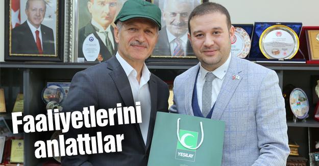 Yeşilay yönetiminden Başkan Dişli'ye ziyaret